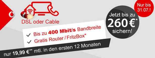 Vodafone Red Internet Phone Dsl Mit Bis Zu 310 Prämie Oder Ps4