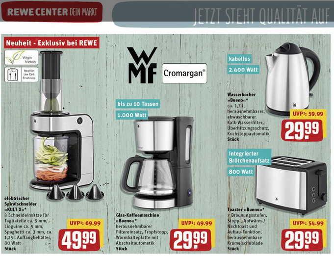 Regional rewe center hessen wmf kaffeemaschine und mehr for Wmf offenbach