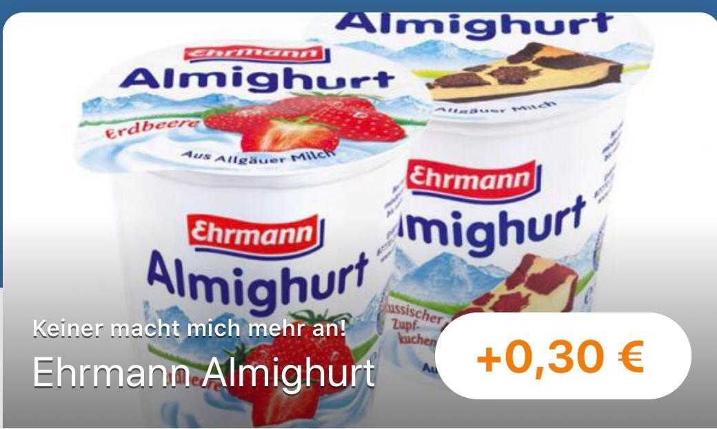 GRATIS] Ehrmann Almighurt dank REWE Angebot und reebate