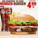 Burger King: Whopper + Pommes + Cola für 4,99€ (statt ~8€)