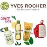 Yves Rocher: 3x Körperpflege + Dusch-Massageschwamm für 13,95€