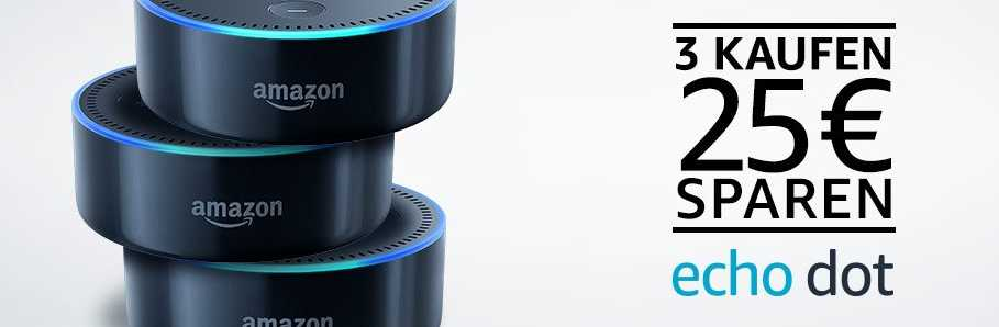 amazon echo dot 3 kaufen 25 euro sparen. Black Bedroom Furniture Sets. Home Design Ideas