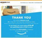 Amazon 10 £ geschenkt bei Bestellungen ab 50 £