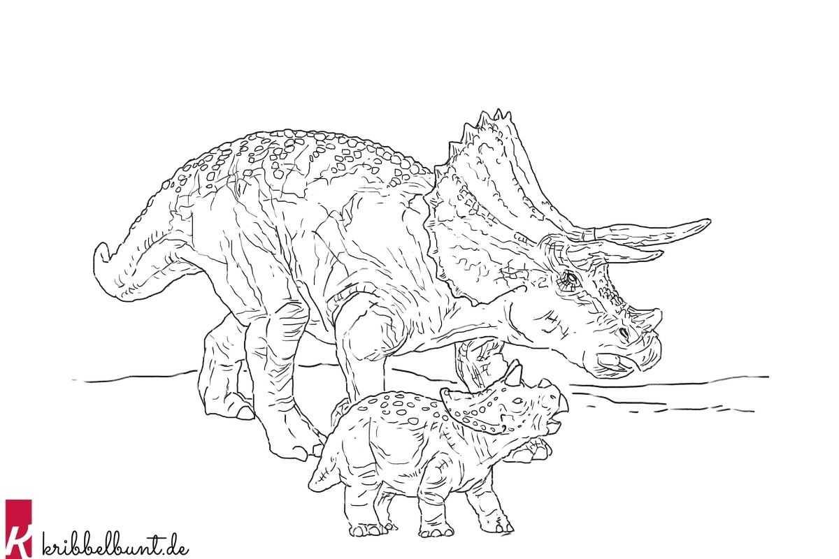 kribbelbunt gratis ausmalbilder dinosaurier als pdf