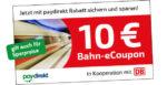 Deutsche Bahn Gutschein: 10€ eCoupon mit paydirekt (auch für Spar-Preise!) für Reisen ab 29,90€