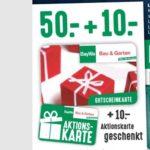 *BayWa Bau&Garten* 50€ Gutschein kaufen + 10€ geschenkt für Inhaber einer BayWa-Card