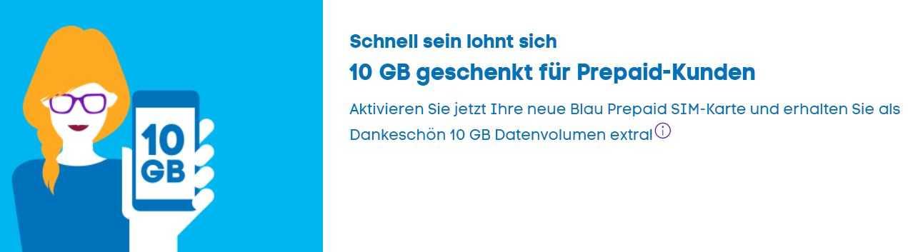 Blau Sim Karte Freischalten.10 Gb Daten Geschenkt Für Neuen Prepaid Tarif Bei Blau De