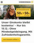 Commerzbank Girokonto ohne Geldeingang plus 50€+50€ Geschenkt