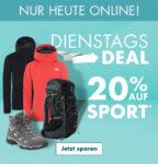 20% Rabatt auf Sportbekleidung, -schuhe oder -ausrüstung im Dienstagsdeal bei Galeria-Karstadt-Kaufhof