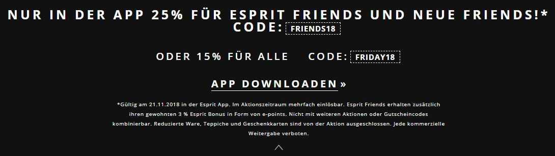 how to buy wide range cheap for discount ESPRIT - Nur in der App - 25%Rabatt für Friends oder 15% für ...