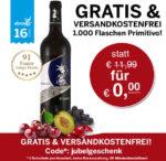 GRATIS: Wein + keine VSK (5€ MBW) - *nur 1000x*
