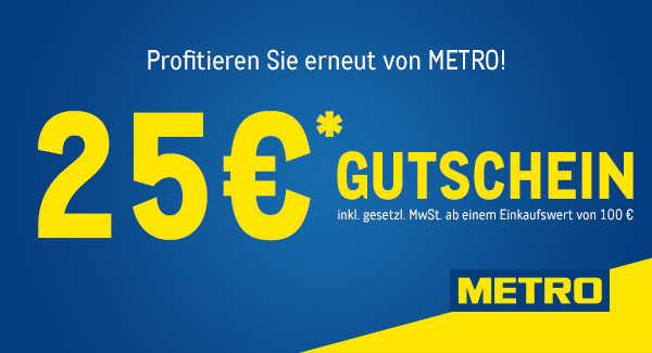 25 Gutschein Fur Metro Bis 14 12 2019 Ab 100 Einkauf