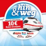 10€ Bahn eCoupon auf Ferrero Aktionspackungen (duplo, hanuta, kinder Country, kinder Riegel, kinder bueno, etc)