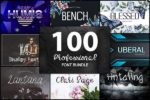 giveawayoftheday: 100 Professional Font Bundle gratis