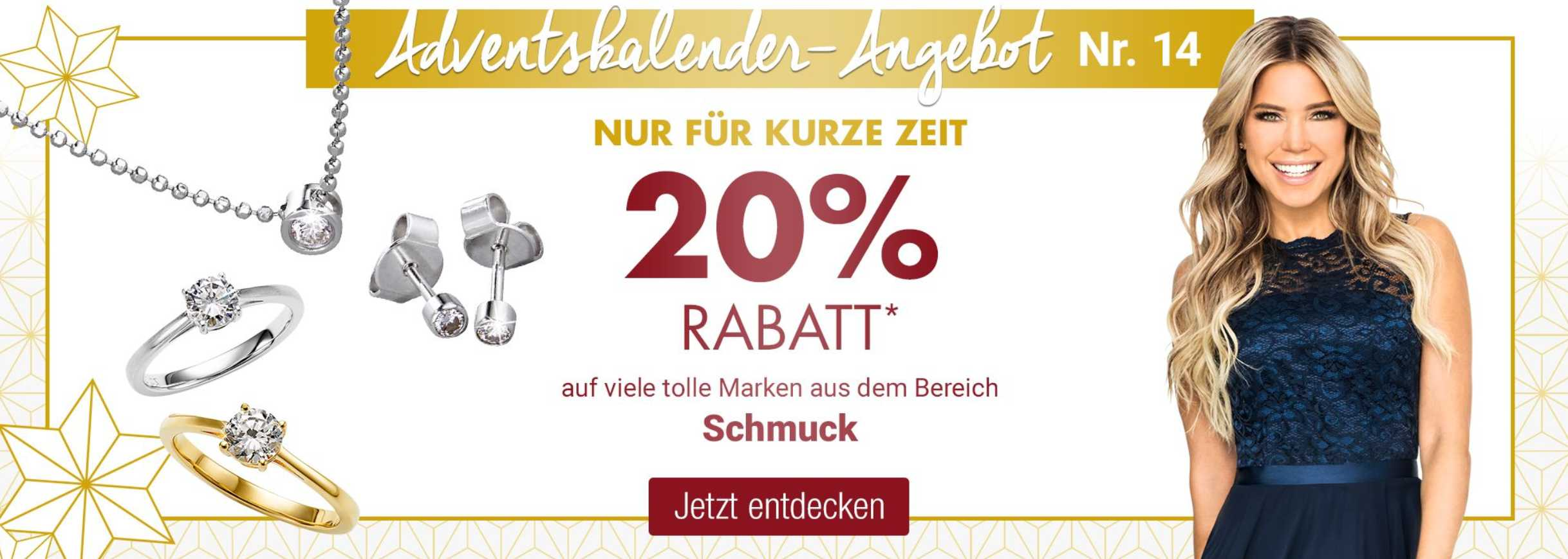 Galeria Kaufhof: 20% Rabatt auf Schmuck