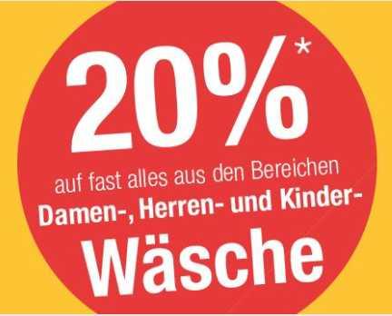Straßenpreis hohe Qualität Sonderrabatt Galeria Kaufhof: Wow des Tages - 20% auf Wäsche