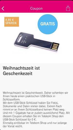 Gratis Telekom Usb Stick Mit 1 Gb Als Schlüsselanhänger