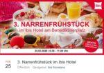 [LOKAL Konstanz] GRATIS Narrenfrühstück im Ibis Hotel für Verkleidete am 25.02.