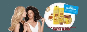 Fructis Wunder Butter 3-in-1 Creme-Kur gratis testen