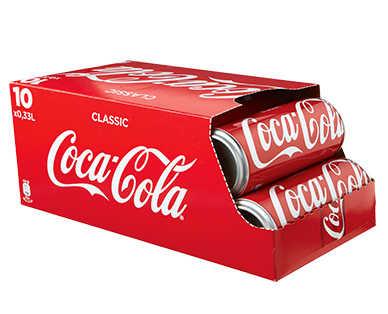 10x 0,33l Coca Cola \