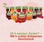Gratis testen -  Schwartau Extra Weniger Zucker Fruchtaufstrich