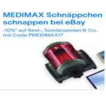 10% Rabatt auf Rest-, Sonderposten & Co. im ebay-Shop von Medimax