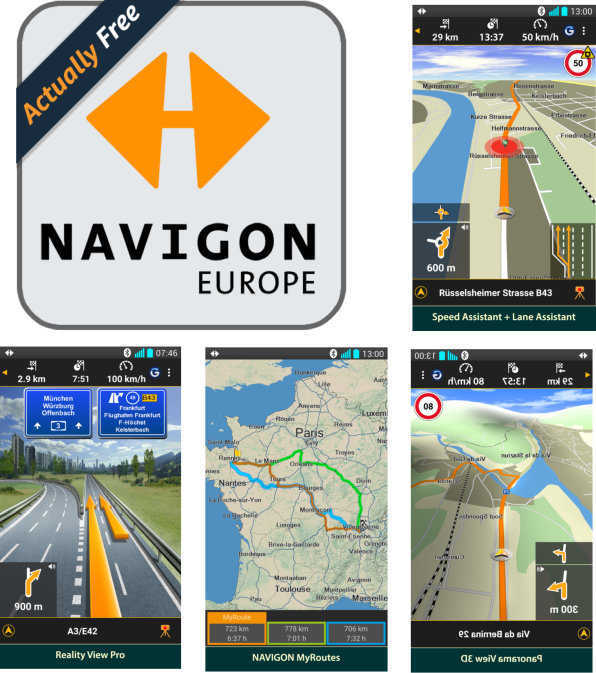 gratis navigations app navigon europe amazon underground. Black Bedroom Furniture Sets. Home Design Ideas
