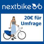 nextbike-umgfrage-20-euro-gratis
