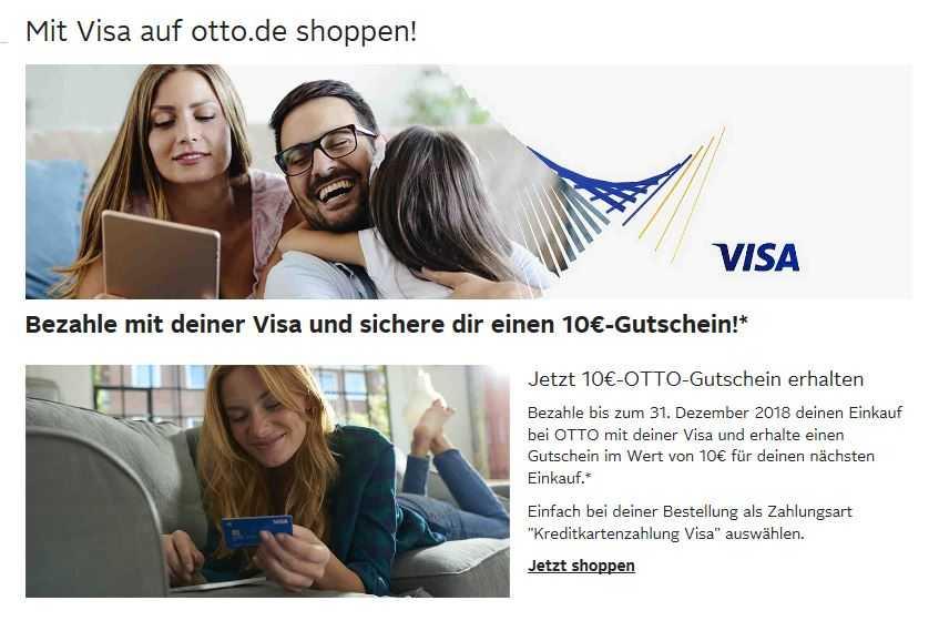 Otto 10 Gutschein Sichern Durch Bezahlung Mit Visa Schnäppchen
