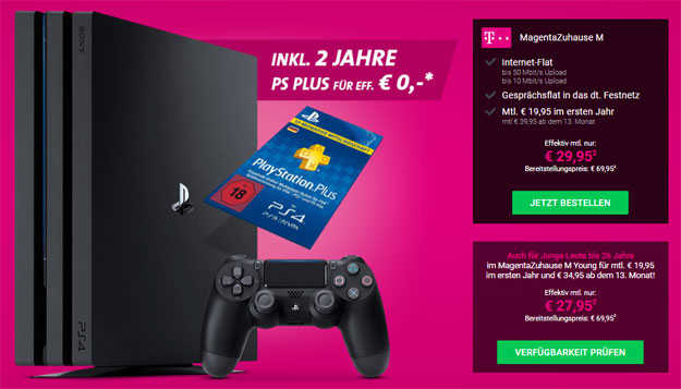 telekom magenta zuhause m m young mit sony ps4 pro 1tb 2 jahre playstation plus. Black Bedroom Furniture Sets. Home Design Ideas