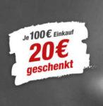 toom Baumarkt: 20€ Gutschein zum Einkauf ab 100€ dazubekommen *ab Freitag*