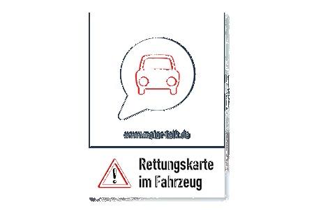 Kostenlose Rettungskarte Aufkleber Fürs Auto Rettet Leben